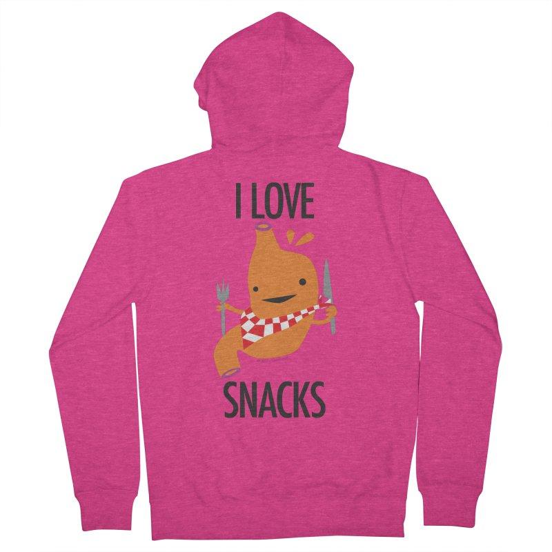 Stomach - I Love Snacks Women's Zip-Up Hoody by I Heart Guts