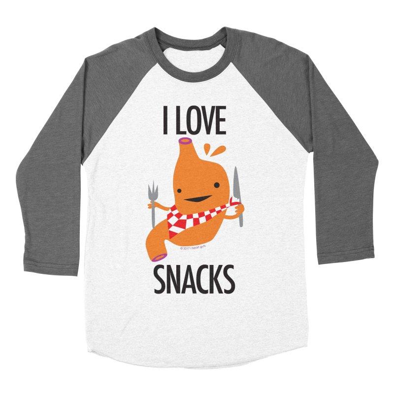 Stomach - I Love Snacks Women's Baseball Triblend T-Shirt by I Heart Guts