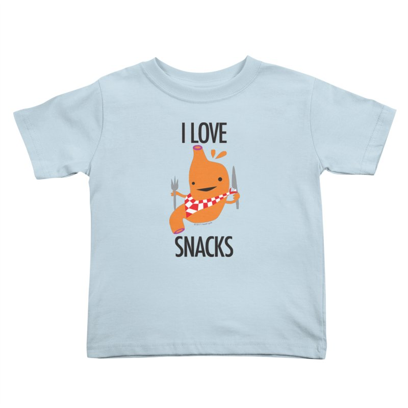 Stomach - I Love Snacks Kids Toddler T-Shirt by I Heart Guts