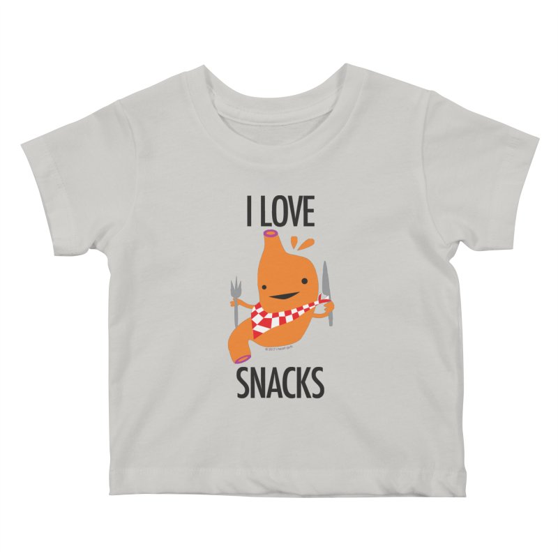 Stomach - I Love Snacks Kids Baby T-Shirt by I Heart Guts