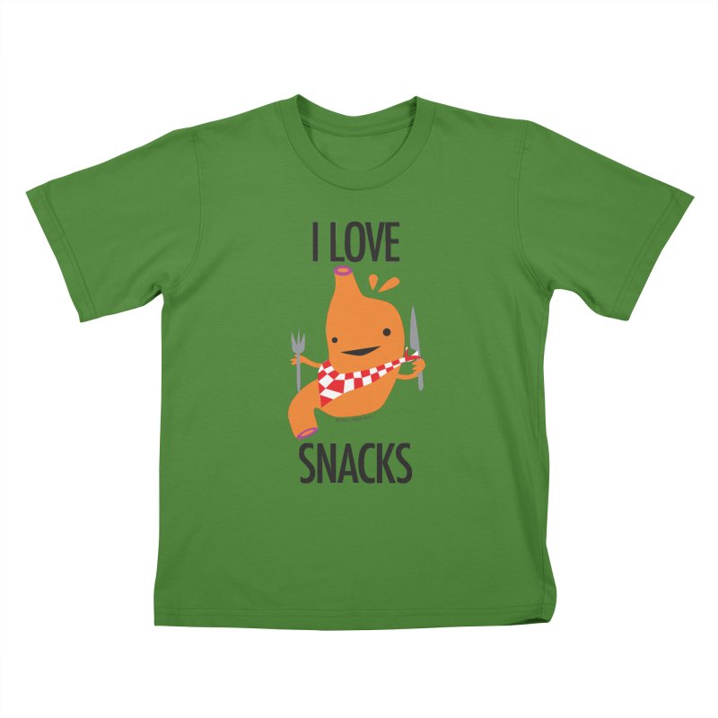 Stomach - I Love Snacks Kids T-shirt by I Heart Guts