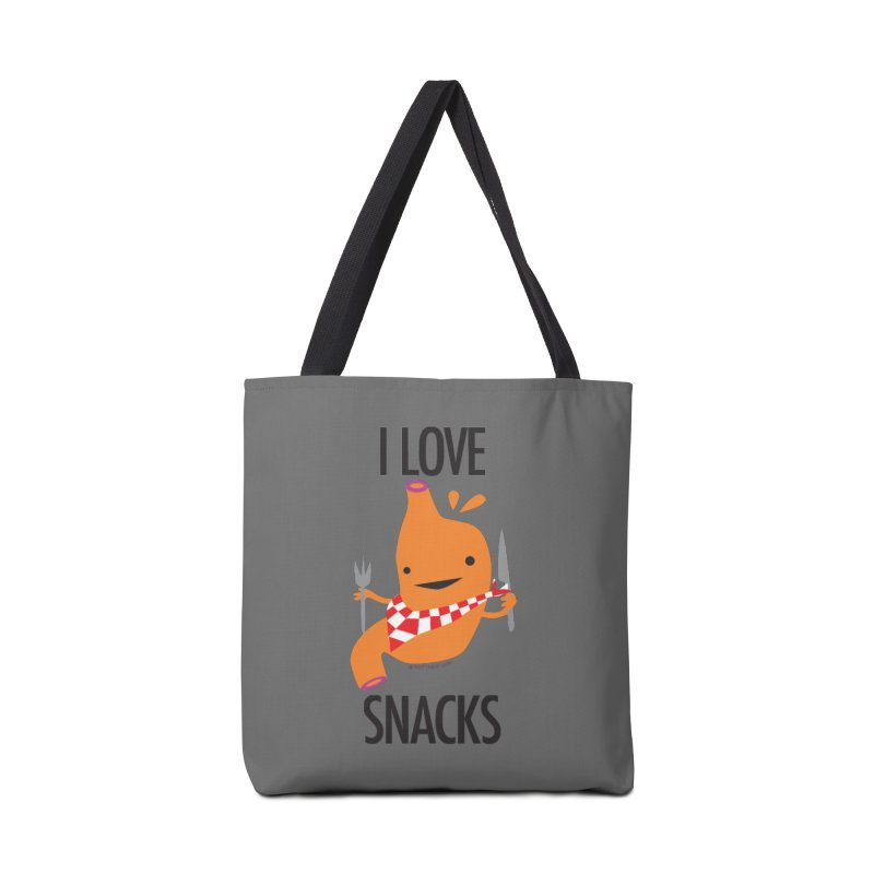 Stomach - I Love Snacks Accessories Bag by I Heart Guts