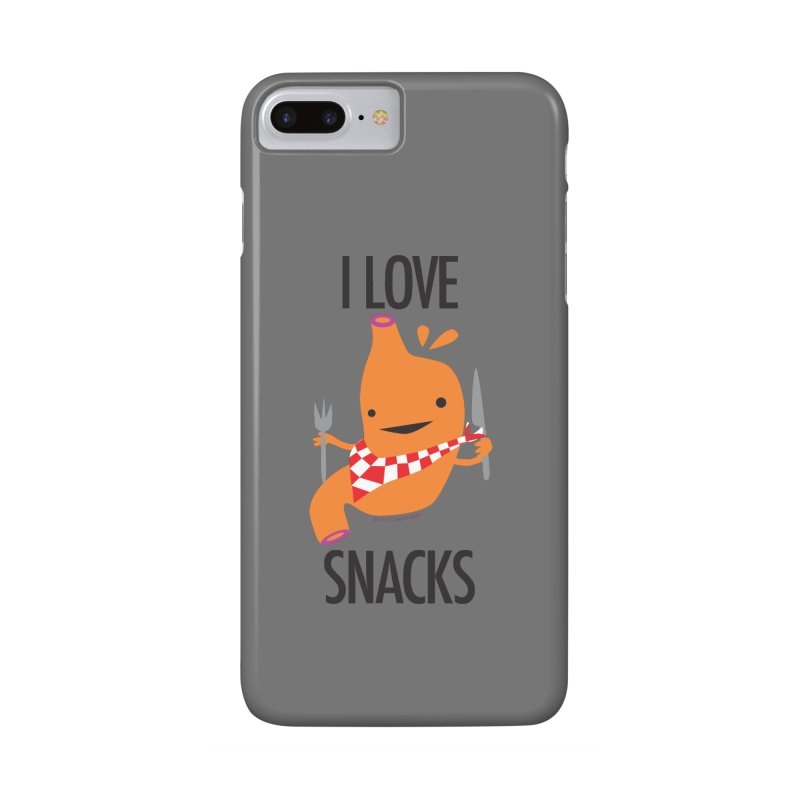 Stomach - I Love Snacks Accessories Phone Case by I Heart Guts
