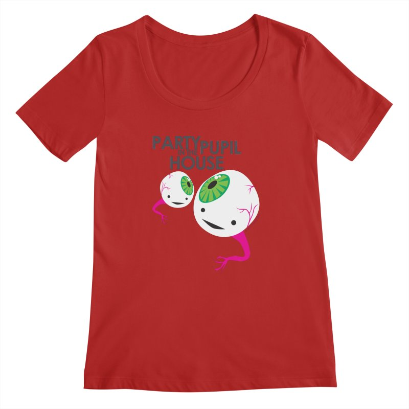 Eyeball - Party Pupil in the House Women's Scoopneck by I Heart Guts