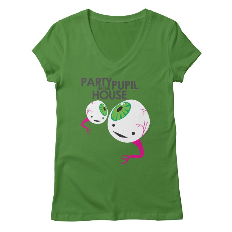 Eyeball - Party Pupil in the House Women's V-Neck by I Heart Guts