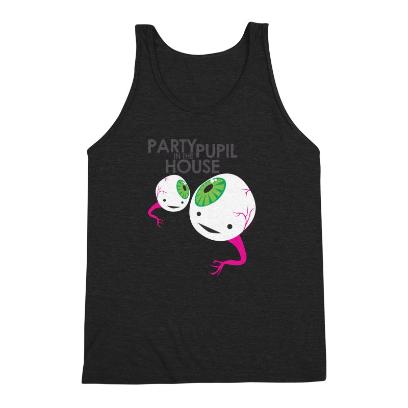 Eyeball - Party Pupil in the House Men's Triblend Tank by I Heart Guts