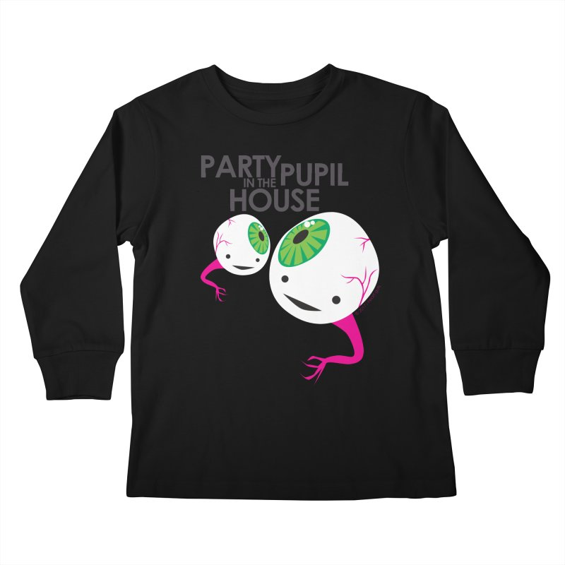 Eyeball - Party Pupil in the House Kids Longsleeve T-Shirt by I Heart Guts