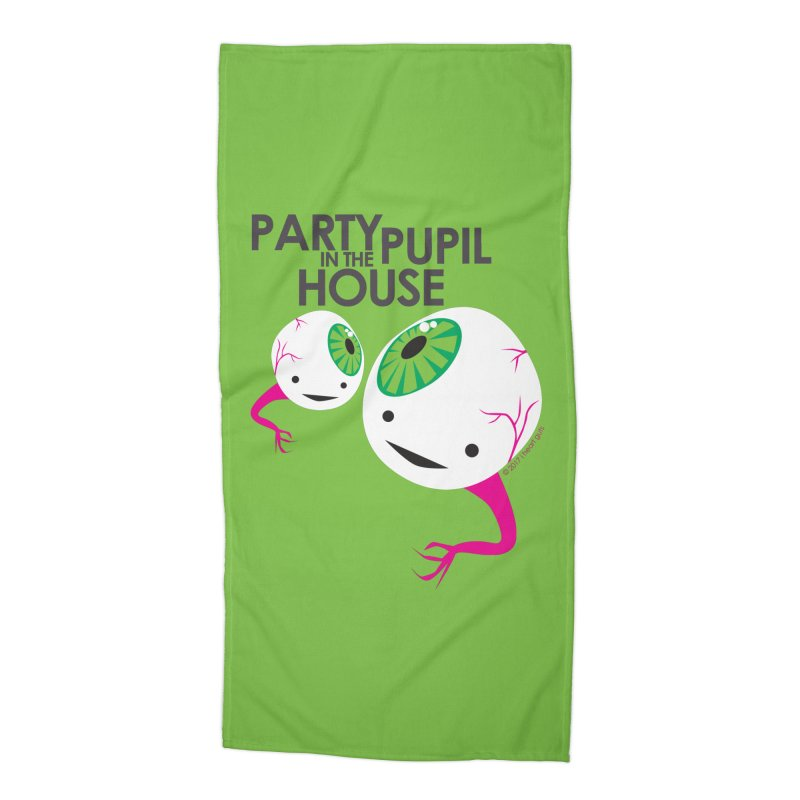 Eyeball - Party Pupil in the House Accessories Beach Towel by I Heart Guts