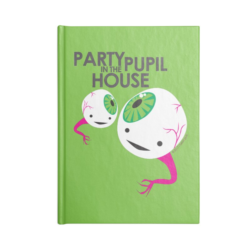 Eyeball - Party Pupil in the House Accessories Notebook by I Heart Guts