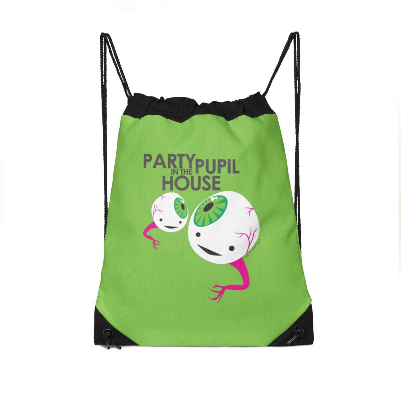Eyeball - Party Pupil in the House Accessories Drawstring Bag Bag by I Heart Guts