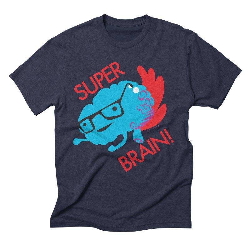 Super Brain! Men's Triblend T-shirt by I Heart Guts