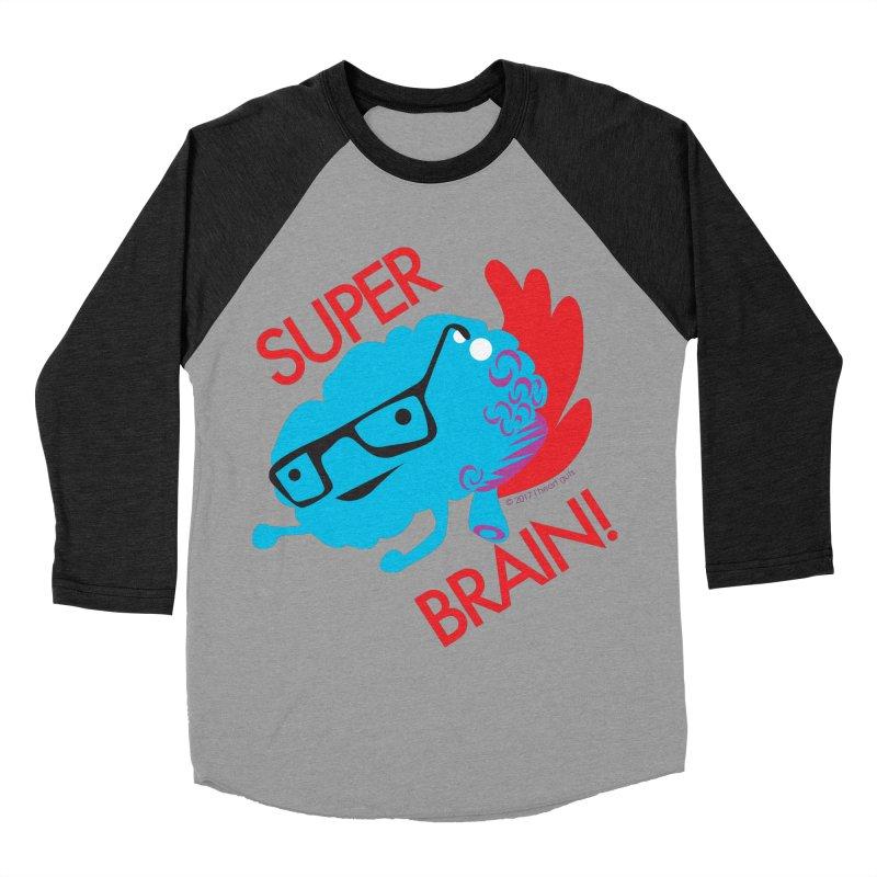 Super Brain! Women's Baseball Triblend T-Shirt by I Heart Guts