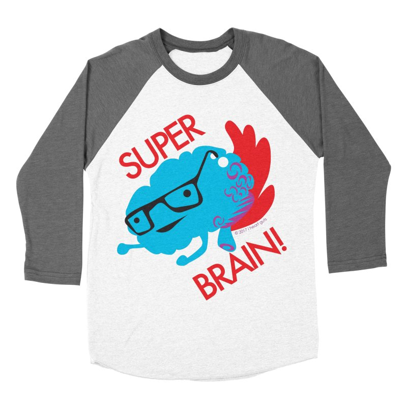Super Brain! Men's Baseball Triblend T-Shirt by I Heart Guts