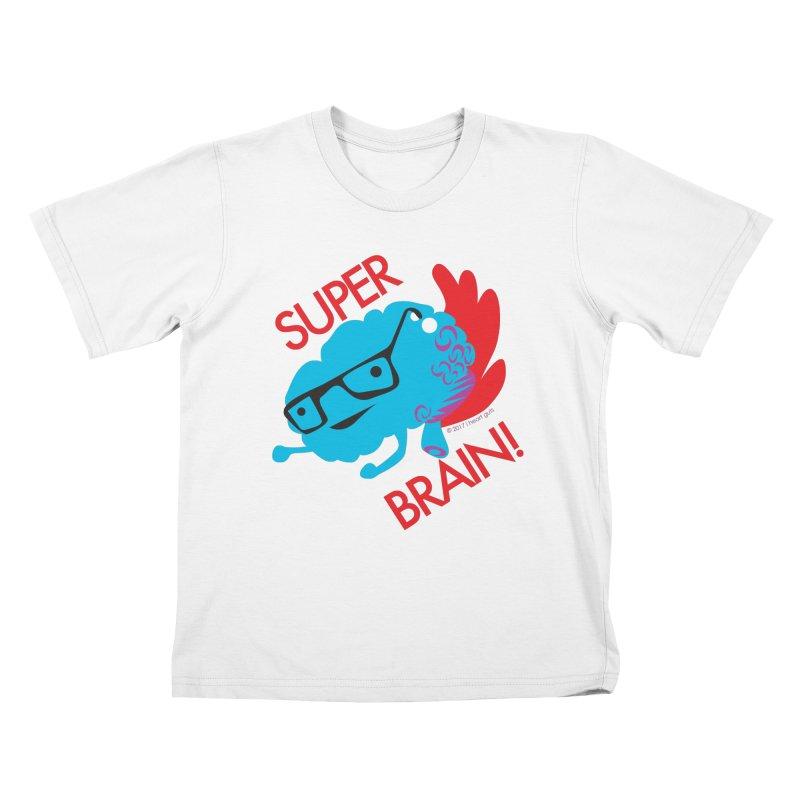 Super Brain! Kids T-shirt by I Heart Guts