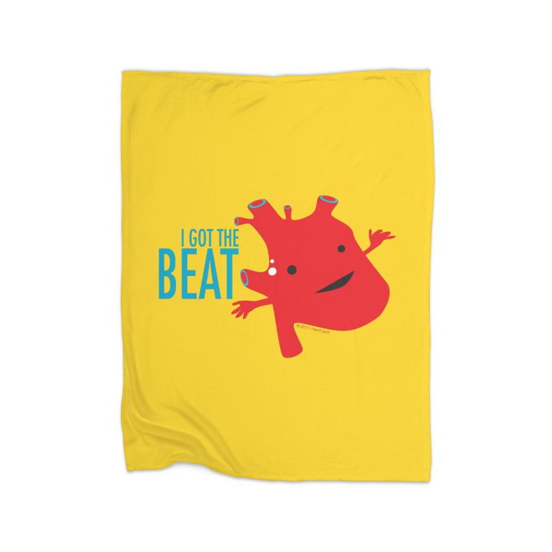 Heart - I Got The Beat Home Blanket by I Heart Guts