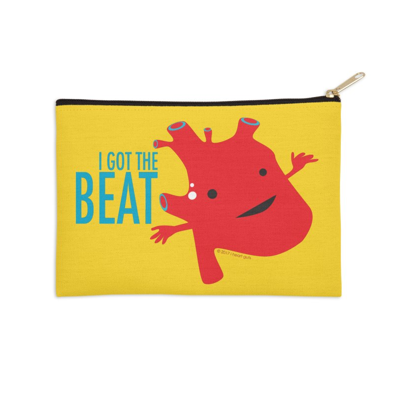 Heart - I Got The Beat Accessories Zip Pouch by I Heart Guts
