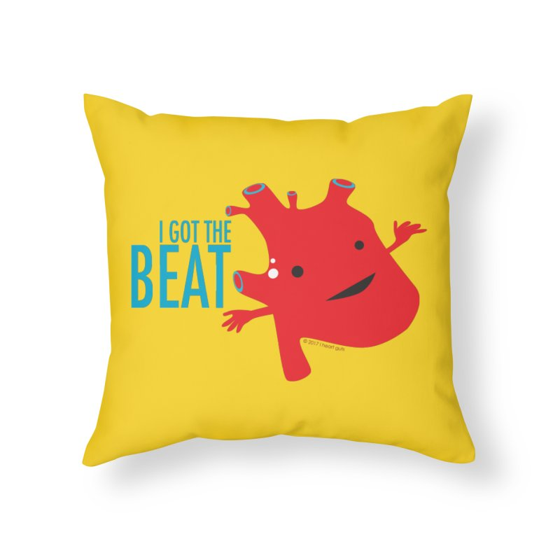 Heart - I Got The Beat Home Throw Pillow by I Heart Guts