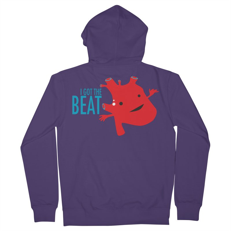 Heart - I Got The Beat Women's Zip-Up Hoody by I Heart Guts