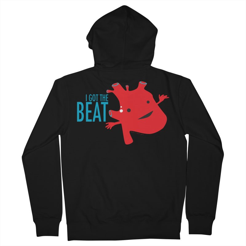 Heart - I Got The Beat Women's Zip-Up Hoody by I Heart Guts