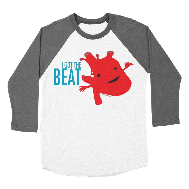 Heart - I Got The Beat Women's Baseball Triblend T-Shirt by I Heart Guts