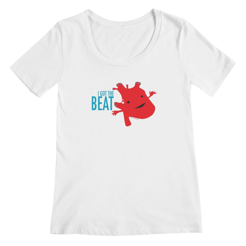 Heart - I Got The Beat Women's Scoopneck by I Heart Guts