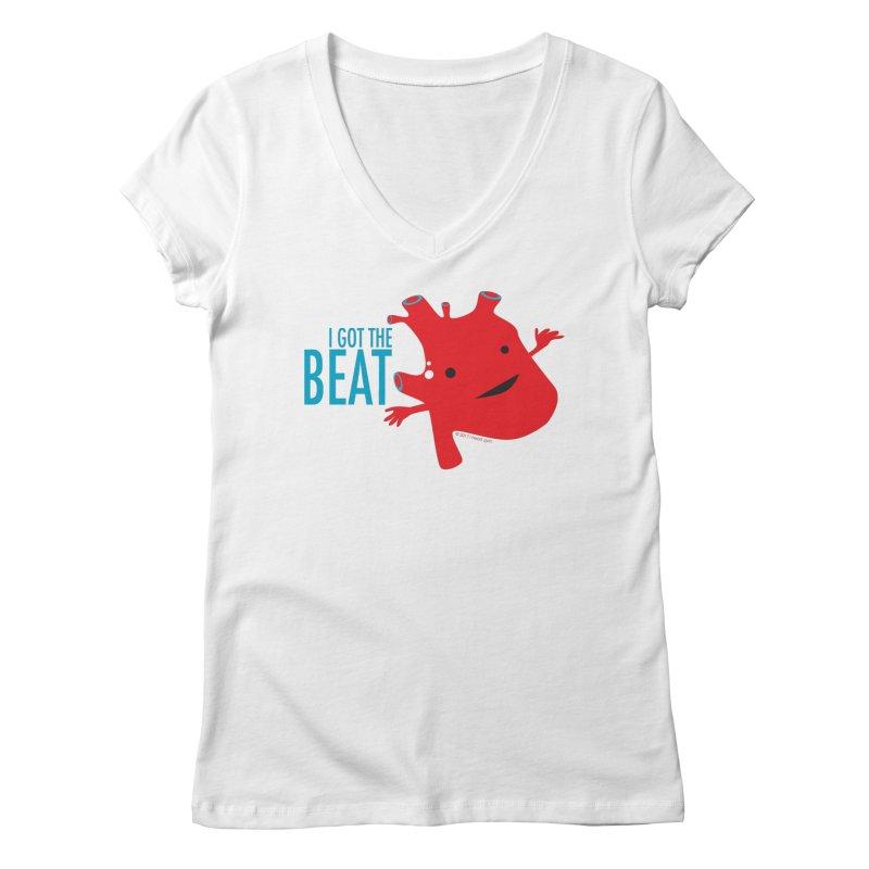 Heart - I Got The Beat Women's V-Neck by I Heart Guts