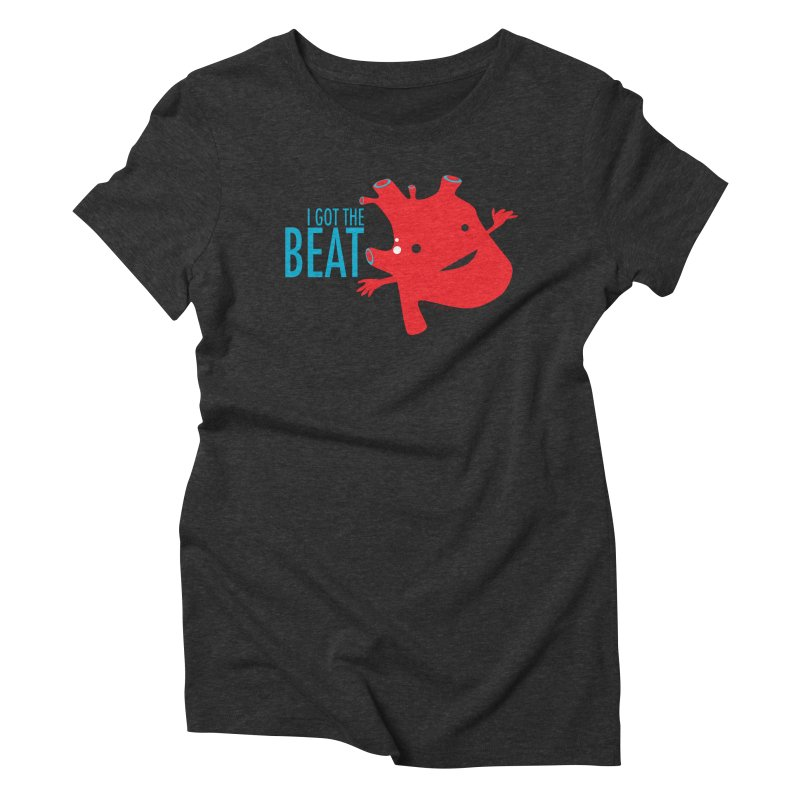 Heart - I Got The Beat Women's Triblend T-shirt by I Heart Guts