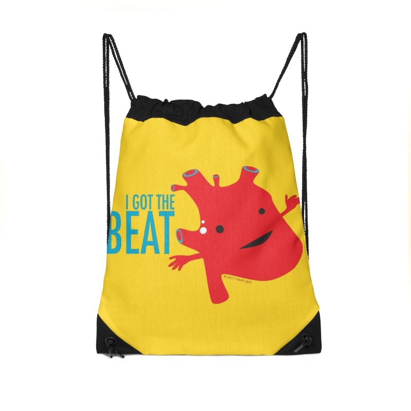 Heart - I Got The Beat Accessories Drawstring Bag Bag by I Heart Guts