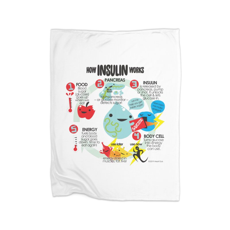 How Insulin Works Home Blanket by I Heart Guts