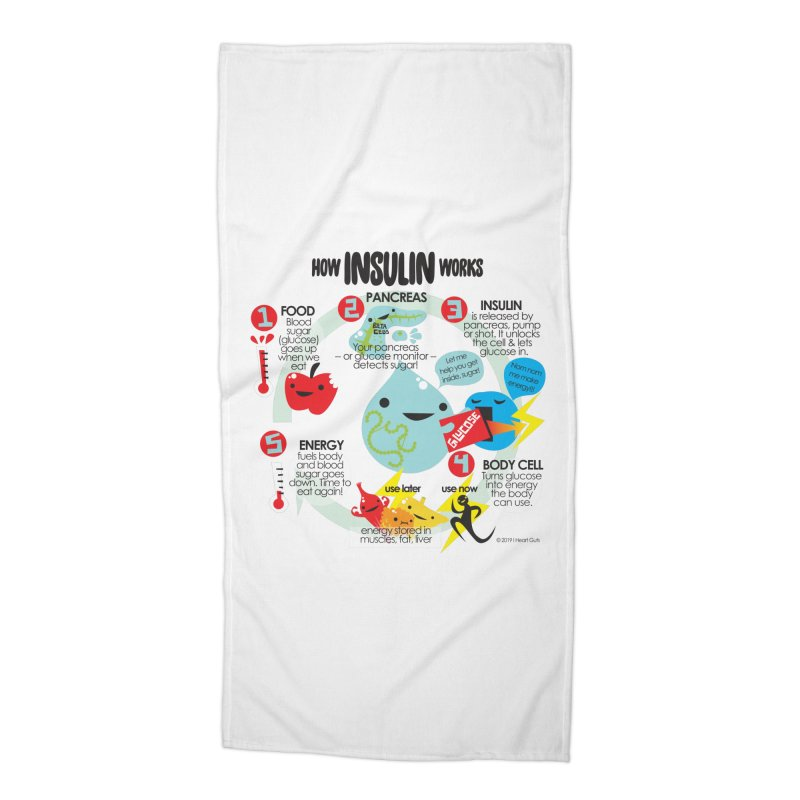 How Insulin Works Accessories Beach Towel by I Heart Guts