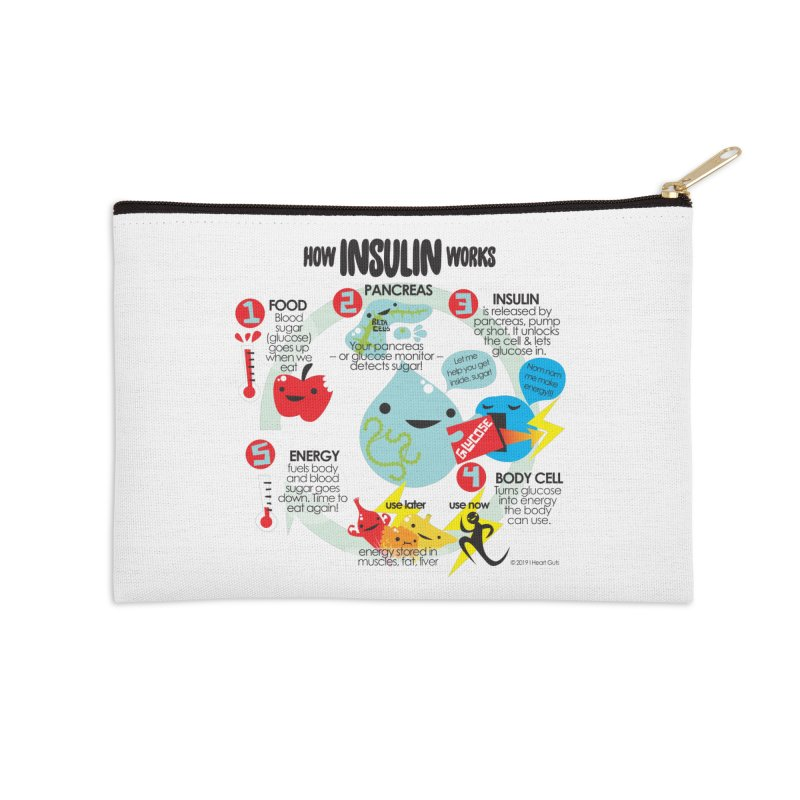 How Insulin Works Accessories Zip Pouch by I Heart Guts