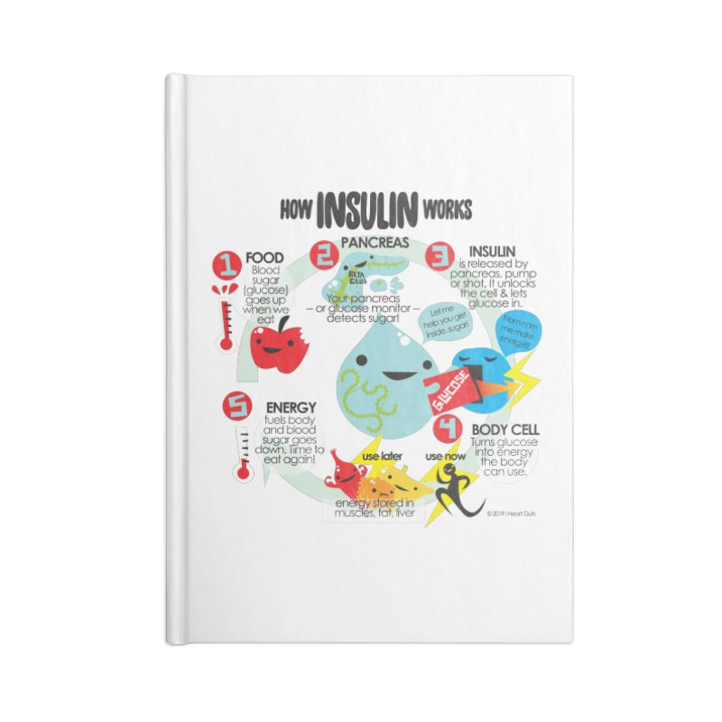 How Insulin Works Accessories Notebook by I Heart Guts