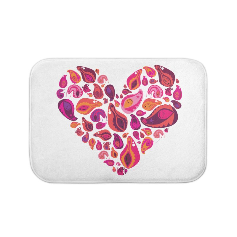 Vadges of Many Colors Home Bath Mat by I Heart Guts
