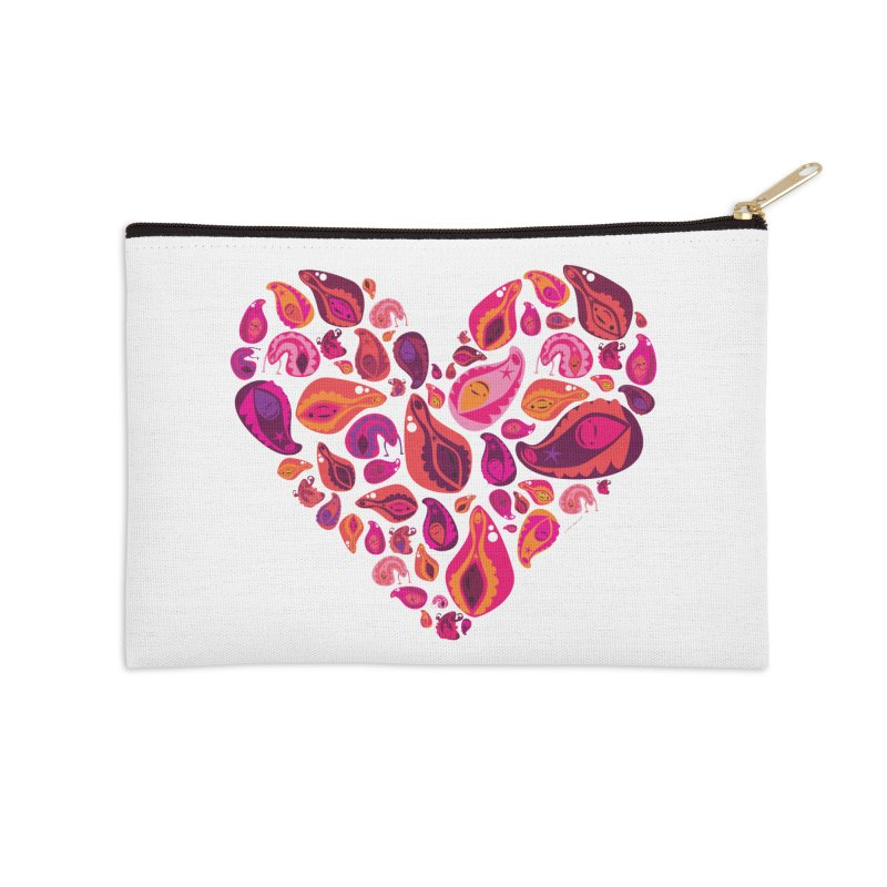 Vadges of Many Colors Accessories Zip Pouch by I Heart Guts
