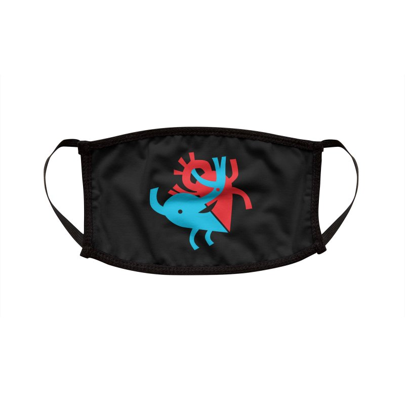 Cute Cardiology Accessories Face Mask by I Heart Guts