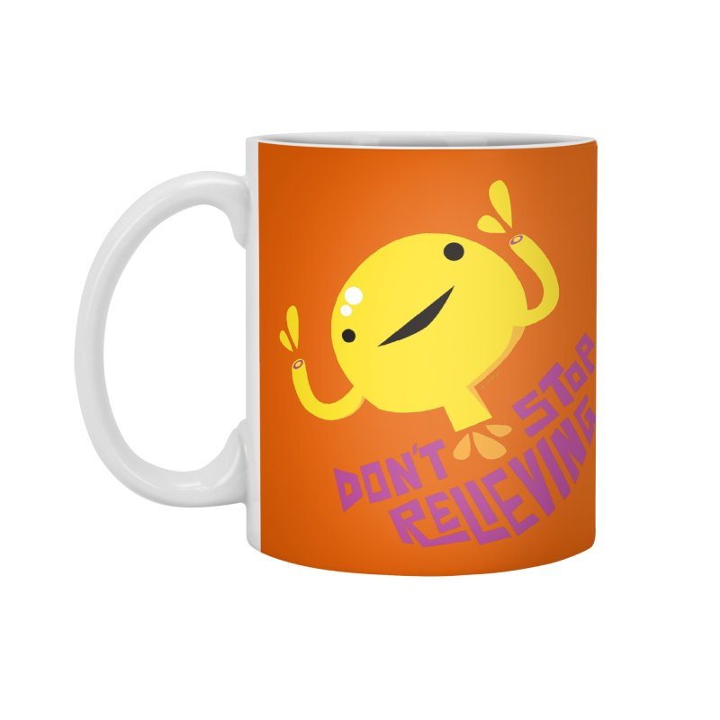 Bladder - Don't Stop Relieving in Standard Mug White by I Heart Guts
