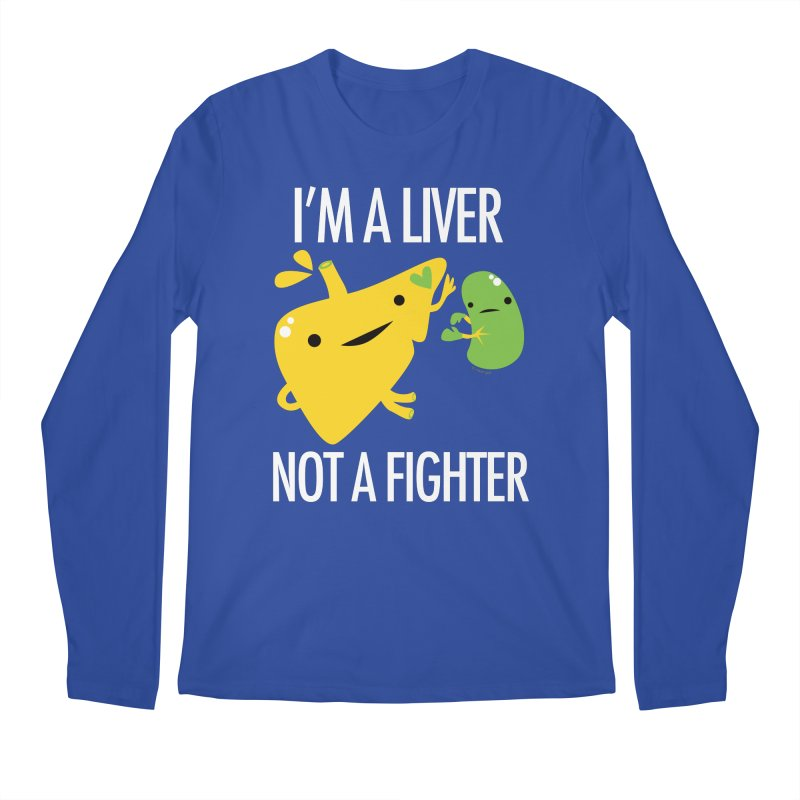 I'm a Liver Not a Fighter in Men's Regular Longsleeve T-Shirt Royal Blue by I Heart Guts