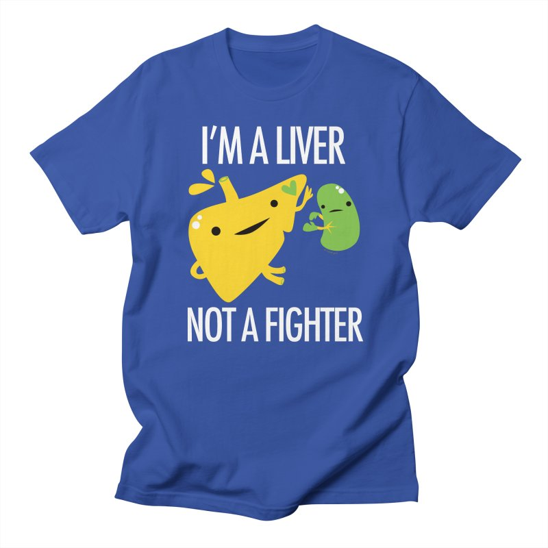 I'm a Liver Not a Fighter in Men's T-Shirt Royal Blue by I Heart Guts