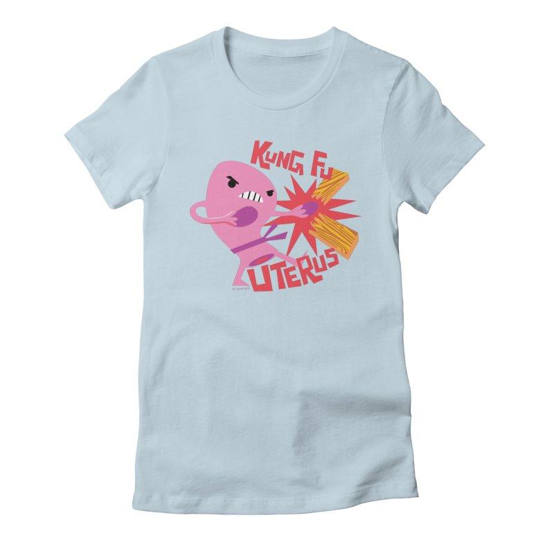 Kung Fu Uterus Women's T-Shirt by I Heart Guts