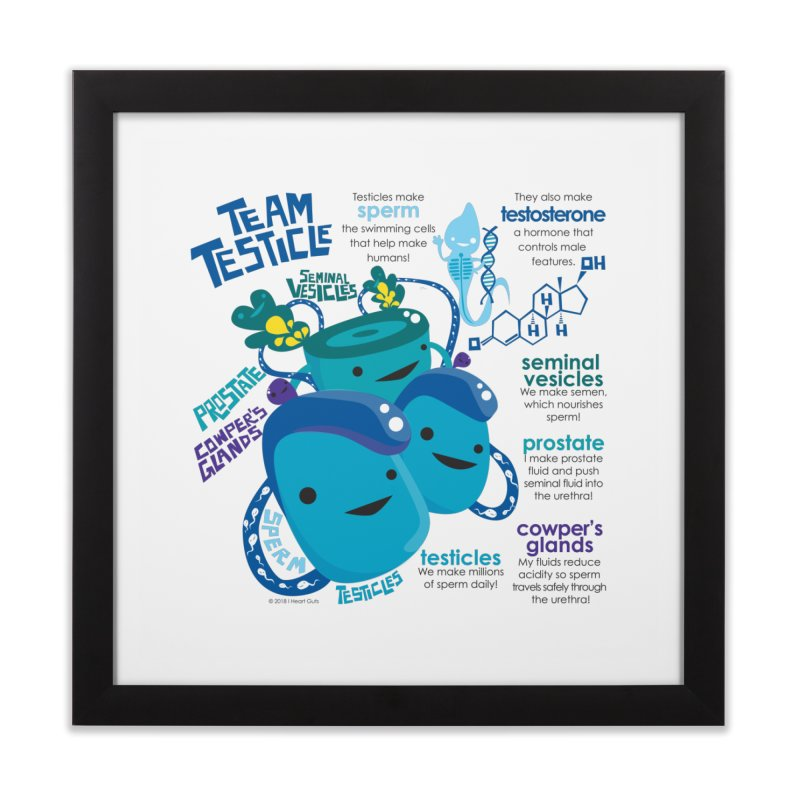 Team Testicle Home Framed Fine Art Print by I Heart Guts