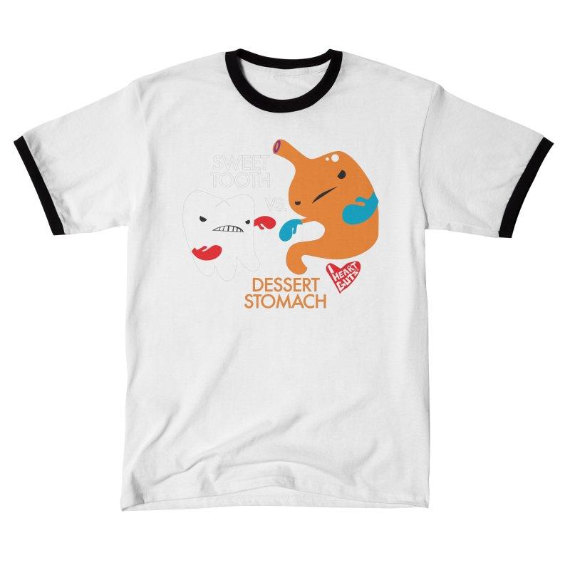 Sweet Tooth vs Desert Stomach Men's T-Shirt by I Heart Guts