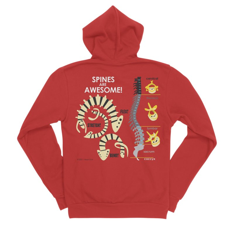 Spines are Awesome! Men's Zip-Up Hoody by I Heart Guts