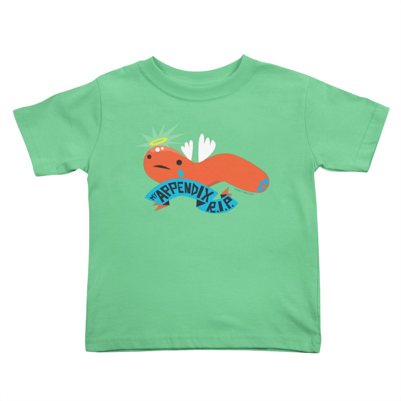 Appendix Rest in Peace Kids Toddler T-Shirt by I Heart Guts