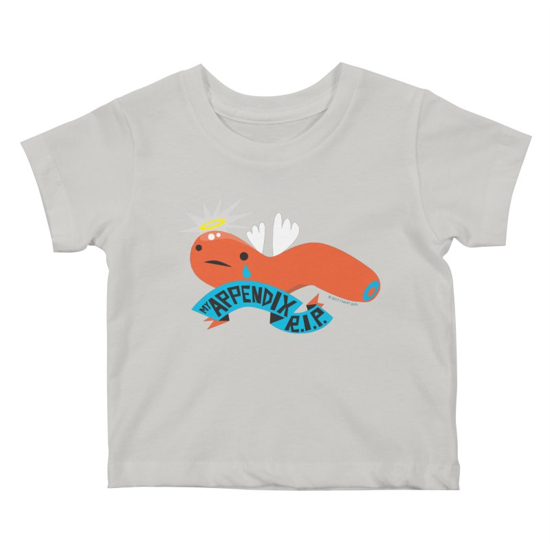 Appendix Rest in Peace Kids Baby T-Shirt by I Heart Guts