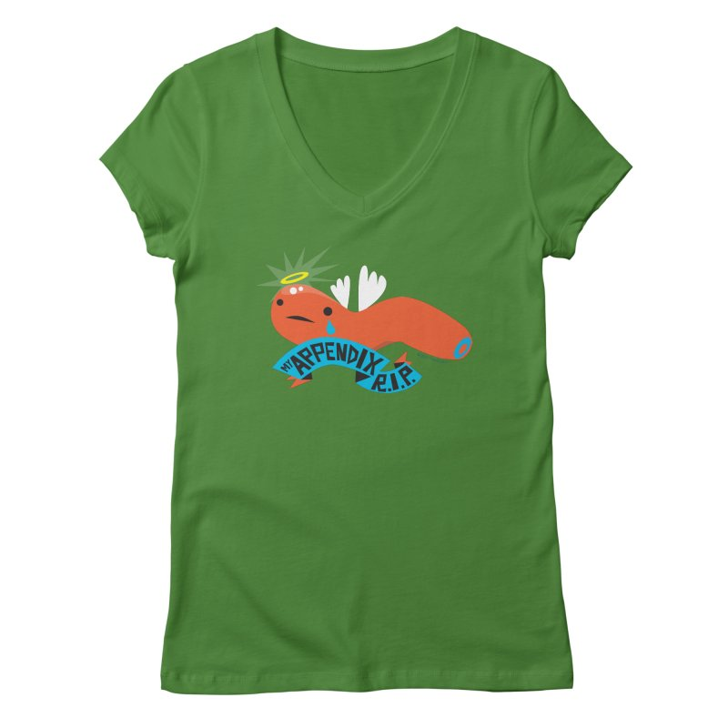 Appendix Rest in Peace Women's V-Neck by I Heart Guts
