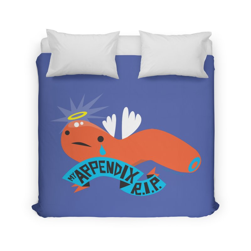 Appendix Rest in Peace Home Duvet by I Heart Guts