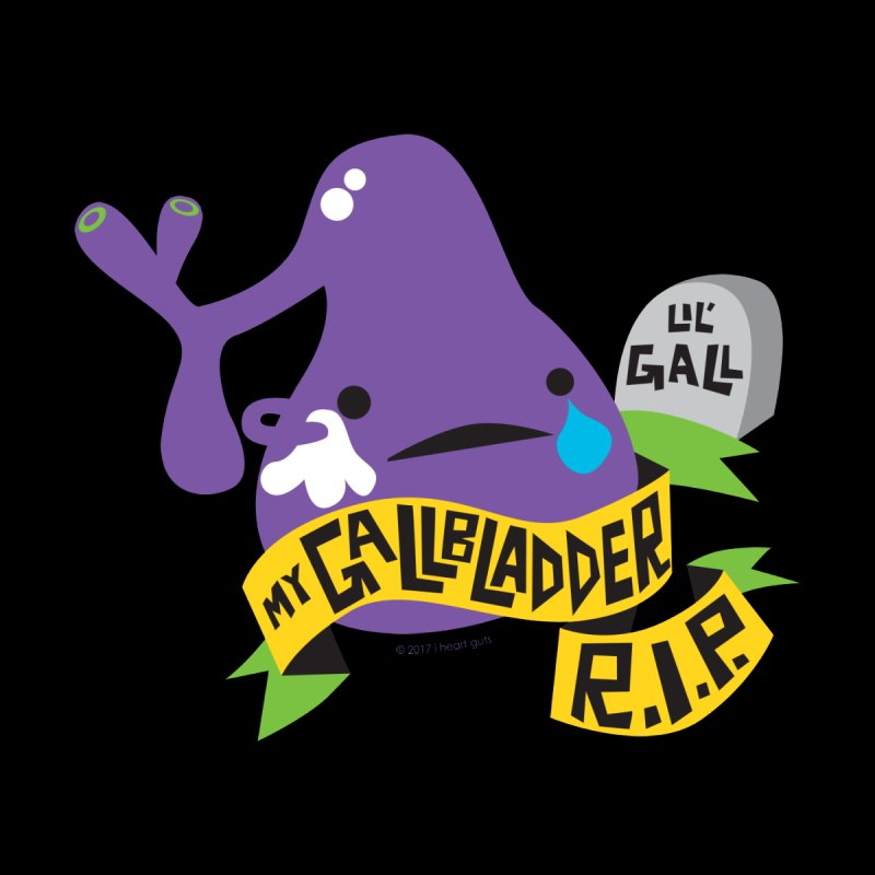 Gallbladder Rest In Peace Accessories Sticker by I Heart Guts