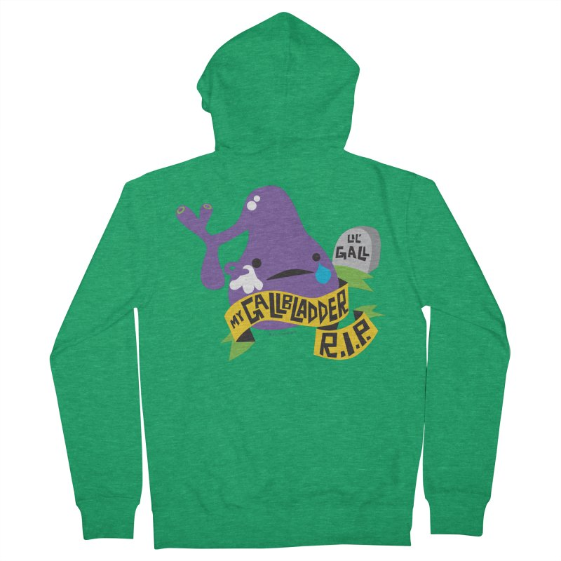 Gallbladder Rest In Peace Men's Zip-Up Hoody by I Heart Guts
