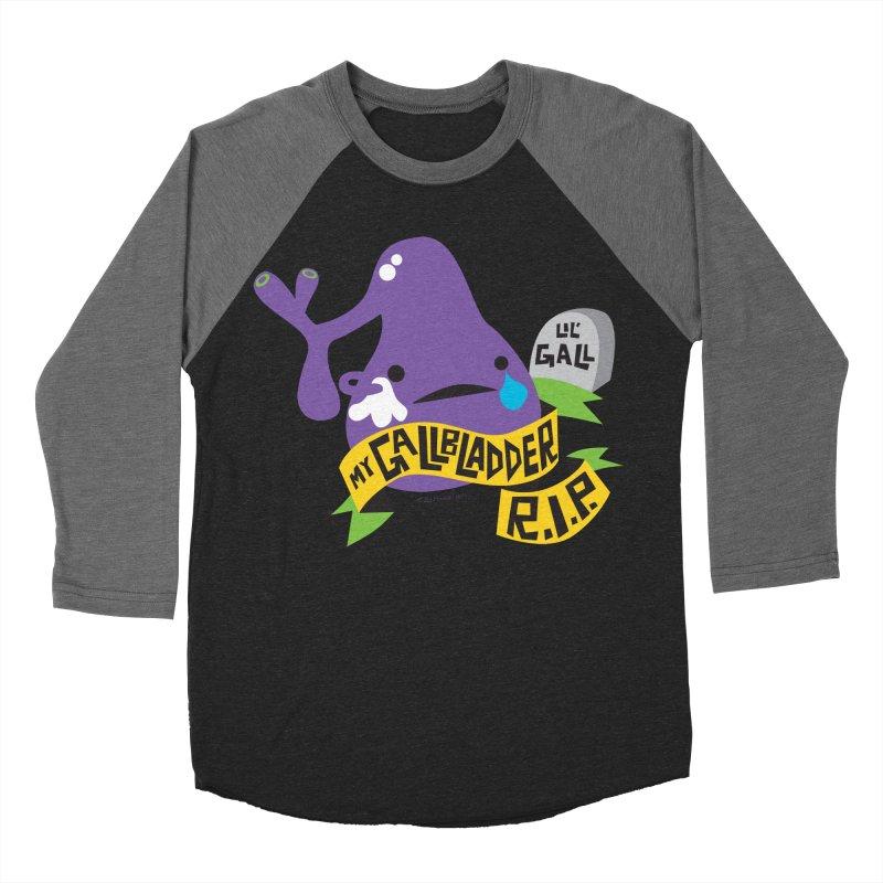 Gallbladder Rest In Peace Men's Baseball Triblend T-Shirt by I Heart Guts