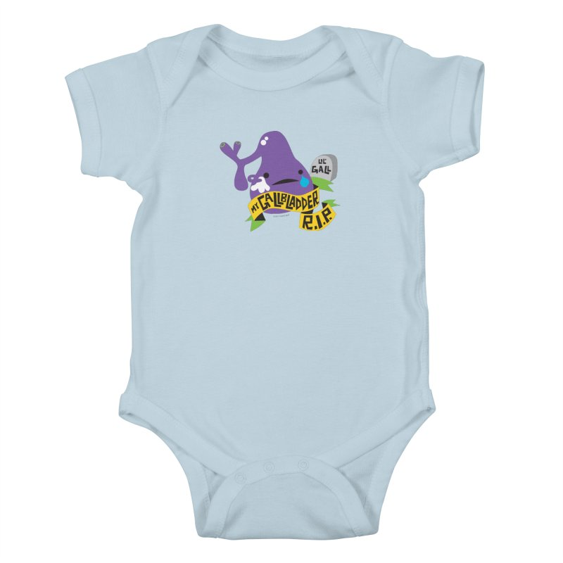 Gallbladder Rest In Peace Kids Baby Bodysuit by I Heart Guts